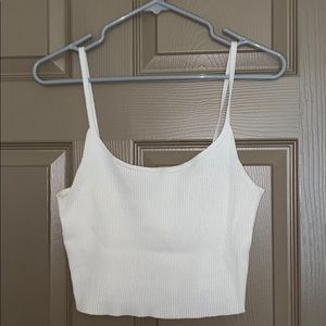 All white crop top